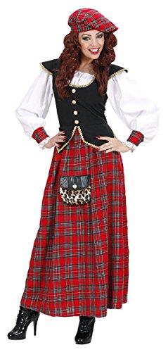 Widmann 7437D Kostüm Highlanderin Schottin, Gr. - Schottland Kostüm