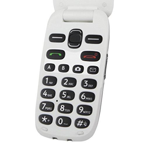 Doro PhoneEasy 6030 2 4  94g Gris  Color Blanco Tel  fono B  sico - Tel  fono M  vil  Concha  SIM   nica  6 1 cm  2 4    0 3 MP  800 mAh  Gris  Blanco