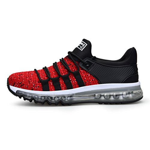 free shipping 1e84e 630df TORISKY Zapatillas de Deportes Zapatos Deportivos Running Zapatillas para  Hombre Rojo Blanco Gris Azul (8073