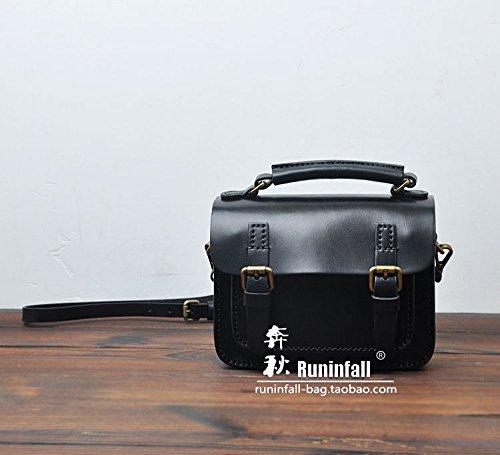 Disque dur portable original vintage besace en cuir couvercle Black