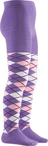 Playshoes Mädchen Strumpfhose Karo, Textiles Vertrauen nach Oeko-Tex Standard 100, Gr. 110 (Herstellergröße: 110/116), Violett (violett 13)