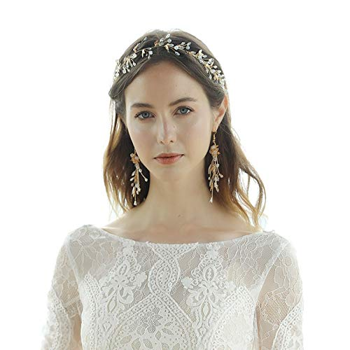 AmDxD Damen Ohrringe Blumen Braut Haar Zubehör Damenohrringe mit Weiß Zzirkonia für Alltag - Ohrringe (Fantasie Leben Engel Kostüm)