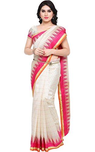 Ethnicjunction Matka Silk Saree (Ej1162-107_White)
