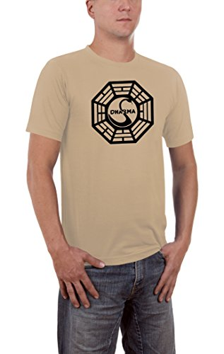 Touchlines Herren Lost Dharma Logo T-Shirt SF121 Sand S -