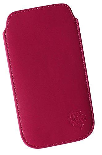 Preisvergleich Produktbild Adler L Dunkel-Pink - Schutz-Tasche passend fuer Samsung Galaxy J5 (2016),  Pull-tab Handy-Huelle herausziehbar,  Etui genaeht mit Rausziehband,  duenne Tasche mit exklusivem Adler Motiv - Dealbude24