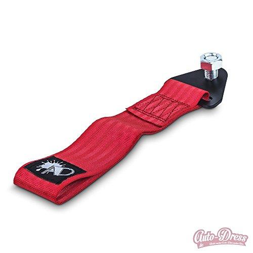 Auto-Dress Rallye Drift Schlaufe - Rennsport / Motorsport Abschlepptau Tau - Racing Hook Tow Strap - Abschleppschlaufe Schlaufe in 9 Farben: Schwarz, Rot, Orange, Gelb, Grün, Blau, Lila, Grau, Pink! (Rot) (Strap Tow Hook)