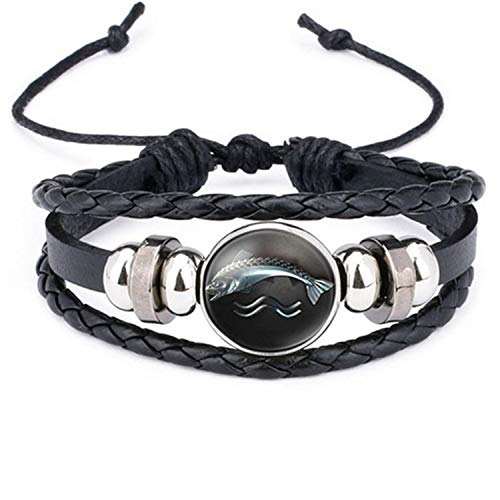 Styliee Armband Armreif, Schmuck Geschenk, New Ethnic Brown Retro Leather Bracelets for Men Women Game of Thrones Multiple Layers Badge Charms Men Bangles Fashion 12012603 Adjustable (14-karat Gold Charm Bracelet)