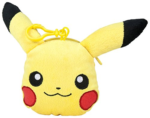 Pokemon - Monedero, peluche Pikachu,  12 cm, color amarillo (Famosa 760015202)