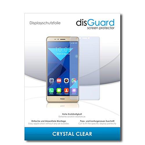 disGuard® Bildschirmschutzfolie [Crystal Clear] kompatibel mit Haier Voyage V6 [3 Stück] Kristallklar, Transparent, Unsichtbar, Extrem Kratzfest, Anti-Fingerabdruck - Panzerglas Folie, Schutzfolie
