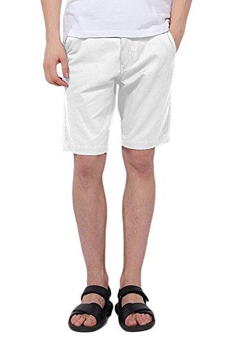 Pau1hami1ton ph-01 pantaloncini uomo casual cotone pantaloni corti chino cargo short(36,bianco)