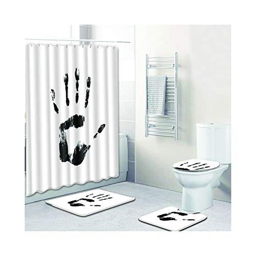 Knbob Badvorleger Set 5Teilig Hand Drucken Style04 Wc Teppich Toilette 45X75Cm