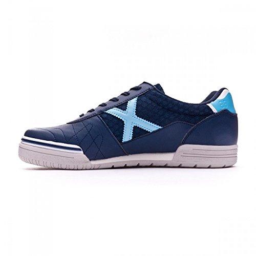 Munich Chaussures montantes de football G-3marine/bleu ciel Semelle lisse bleu marine
