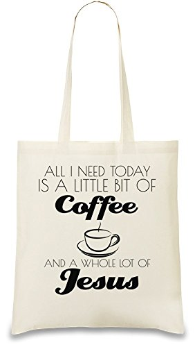 all-i-need-is-big-of-coffe-and-whole-lot-of-jesus-funny-sacchetto