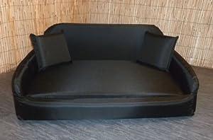 Zippy Pet Dog Bed - Waterproof Wipe Clean Sofa - Medium - Black
