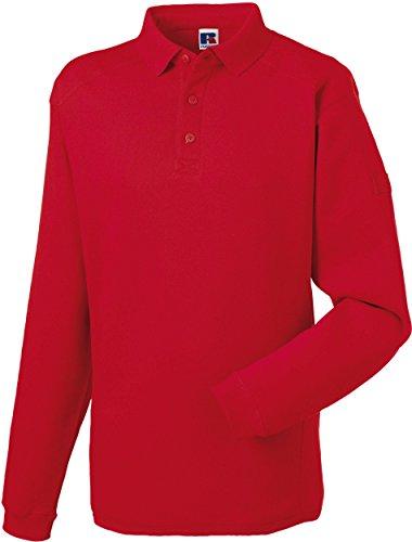 Russell Unisex Strapazierfähiges Arbeits-Sweatshirt mit Kragen R-012M-0 Classic Red XXL (Classic Sweatshirt Golf)