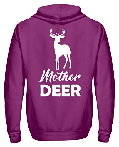 Mother Deer Mutter Und Kind Partnerlook REH Pullover - Unisex Kapuzenpullover Hoodie -XXL-Magenta Magic