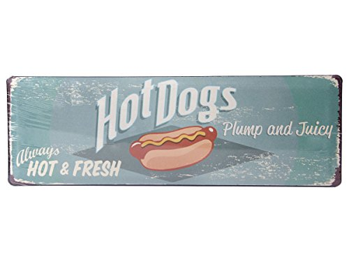 Hot Dog Dekorationen (Metallschilder Vintage Metallschild Nostalgie Retro Deko Blechschild Metall Schild Antik Vintage Art Wandschild, Variante wählen:810681 Hot Dogs)