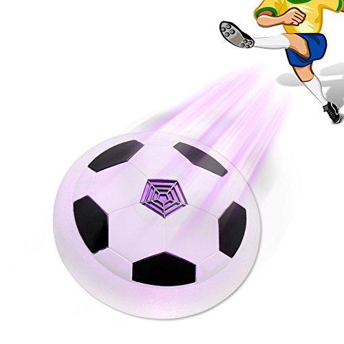 W Spiel Hockey (Kinder spielt Air Power Fußball, Konsky Hover Ball Disk Kinder Training Fußball Spiele Soft Foam mit LED-Leuchten Indoor Outdoor Geschenke für Mädchen und Jungen)