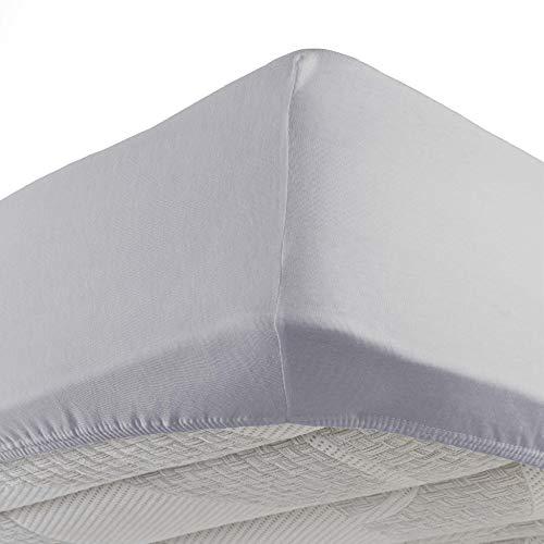 Douceur d'intérieur  - 1640329, lenzuolo con angoli matrimoniale , 160 x 200 cm , jersey uni , jersey unito , grigio