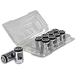 Panasonic Industrial CR2 Lot de Piles Lithium 3 V 10er-Box