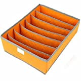 Connectwide Charcoal Innerwear Drawer Organiser Partition Box - 7 Cell