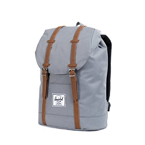 Herschel ,  Unisex Erwachsene Rucksack Grey/Tan Synthetic Leather Backpack