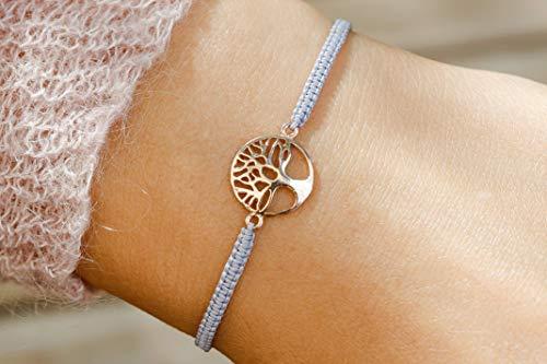 Armband Lebensbaum Silber rosévergoldet G-Box - Elle Spitze