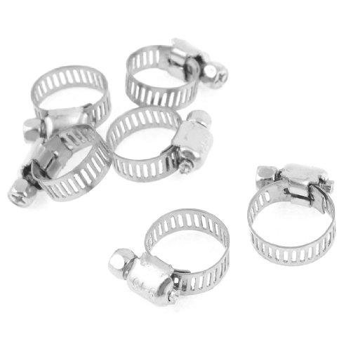 Aexit 6 piezas 9-16 mm ajustable anillo aro acero