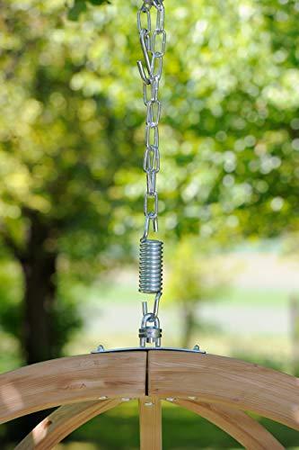 AMAZONAS Hängesessel in edlem Design Globo Chair Natura aus FSC Fichtenholz bis 120 kg in Weiß - 3