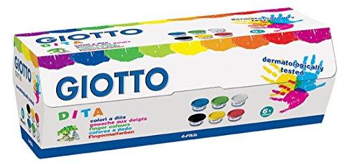 giotto-534100-estuche-6-botes-pintura-a-dedos-100-ml-cada-uno-colores-surtidos