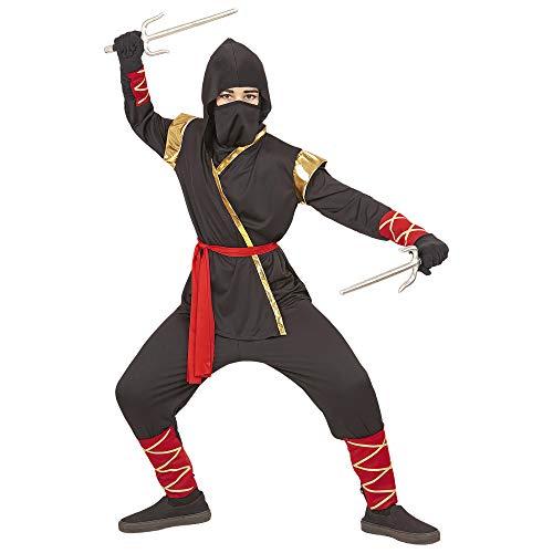 Widmann 96816 Kinderkostüm Ninja Jungen Schwarz (Schwarze Kostüm Für Jungs)
