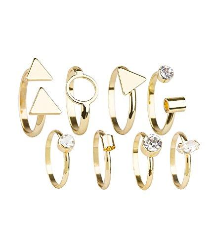 SIX Glamourös glitzernde Ringe im 8er-Set (439-667)
