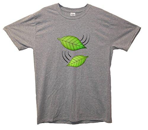 Grün Leaves Emoji T-Shirt Grau