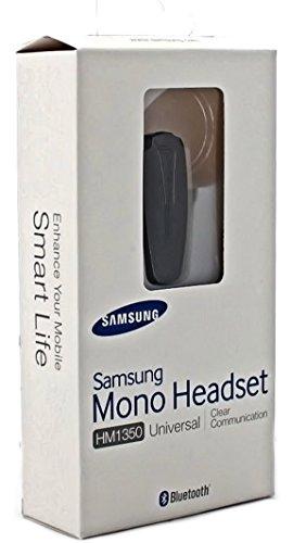 Samsung Mono Handy Bluetooth Headset - HM1350 - inclusive Ladegerät - für Mobiltelefone mit Bluetooth Einrichtung – in der Original Verpackung (Galaxy Ace 2 S6810)