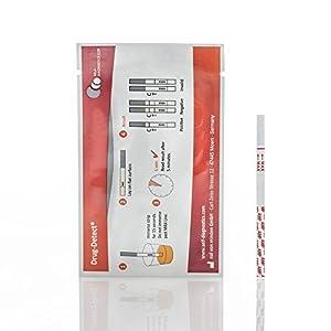 Drogentest Cannabis (Mariuhana / Haschisch / THC) -Schnelltest Drug-Detect – 10 Teststreifen (Cut-off: 25 ng/ml)