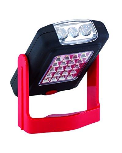Preisvergleich Produktbild Taschenlampe Werkstatt 20 LED klappbar mit Magnet und Haken gummiert Gehäuse LED Lampe
