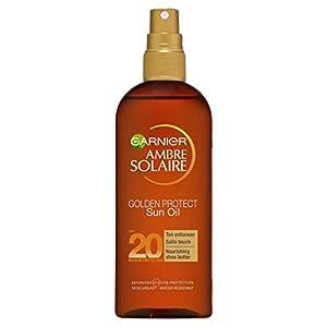 Garnier ambre solaire – Medio, factor de protección solar 20 golden proteger broncear aceite 150 m