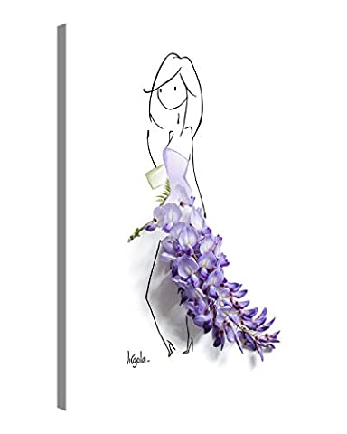 Premium Kunstdruck Wand-Bild – Virgola Art - LILAC - 30x40cm