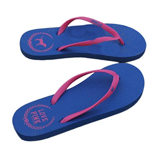 Minetom Donna colore della caramella Flat Flip Flops Slim Infradito e ciabatte da spiaggia Scarpe Interno Outdoor EUROPE Taglia Blu