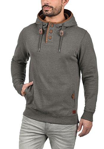 BLEND Alexo Herren Kapuzenpullover Hoodie Sweatshirt mit optionalem Teddy-Futter aus hochwertiger Baumwollmischung Meliert Pewter Mix (70817)