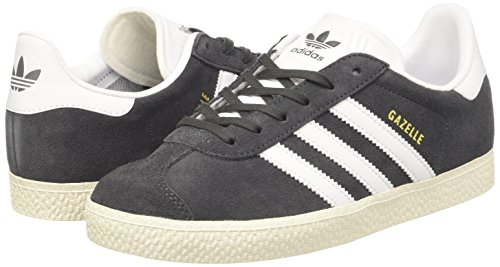 sports shoes b39fa 59e81 adidas Gazelle, Scarpe da Ginnastica Basse Unisex – Bambini, Grigio (Dgh  Solid Grey footwear White gold Metallic), 36 2 3 EU. Visualizza le immagini