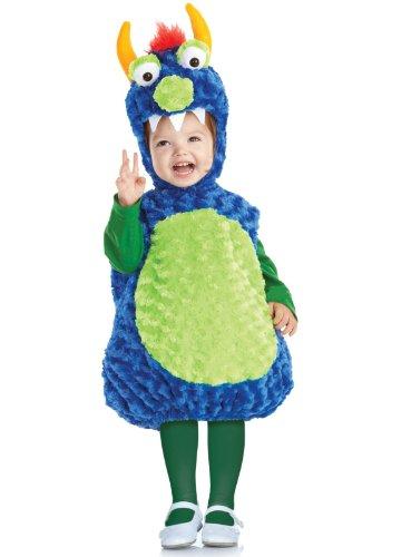 �sch Monster Kinderkostüm - 92/104 (Blaues Monster Kostüm, Kleinkind,)