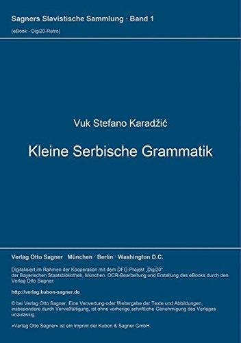 Kleine Serbische Grammatik (Sagners Slavistische Sammlung)