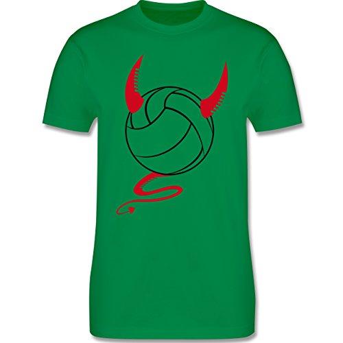 Volleyball - Teufel Volleyball Teuflischer - Herren Premium T-Shirt Grün