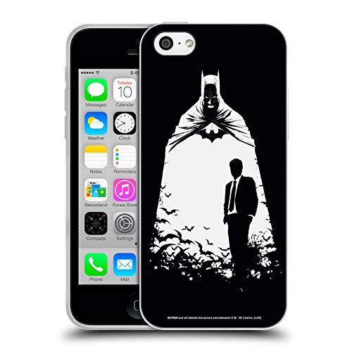 Head Case Designs Offizielle Batman DC Comics Alter Ego Bats Dualitaet Soft Gel Huelle kompatibel mit iPhone 5c (Bat 5c Phone Case)