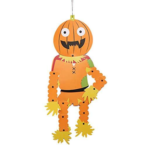 Lidahaotin Reizender Roter Schal Skeleton Zombie Form-Papier-Anhänger Anhänger Festival Ornament Lieferanten #4 24 * 70cm