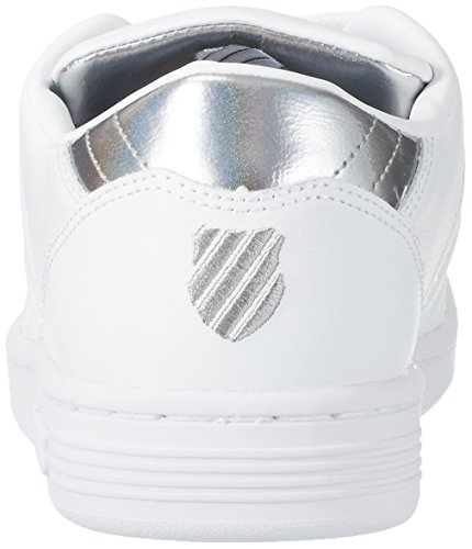 K-Swiss Lozan Iii Tt Mtllc, Scarpe da Ginnastica Basse Donna Bianco (White/silver)