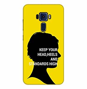 Happoz ASUS Zenfone 3 Deluxe (ZS570KL) Cases Back Cover Mobile Pouches Shell Hard Plastic Graphic Armour Premium Printed Designer Cartoon Girl 3D Funky Fancy Slim Graffiti Imported Cute Colurful Stylish Boys D311
