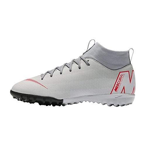 Nike Unisex-Kinder Mercurial SuperflyX VI Academy TF Fußballschuhe, (Grau/Rot 060), 36 EU