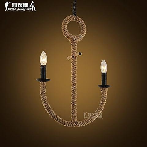 Lbcvh Sencillez nórdica personalidad creativa candelabros de hierro y vidrio, vintage comedor droplight,Ninguna fuente de